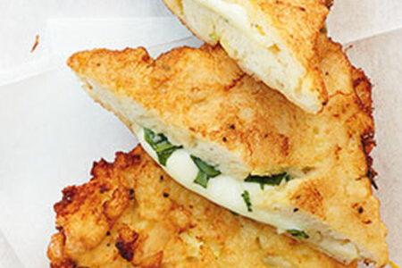 Baked Basil Mozzarella Bread Slices