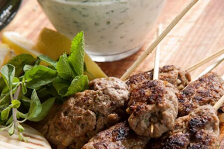Lamb Kofta with Herbed Tzatziki