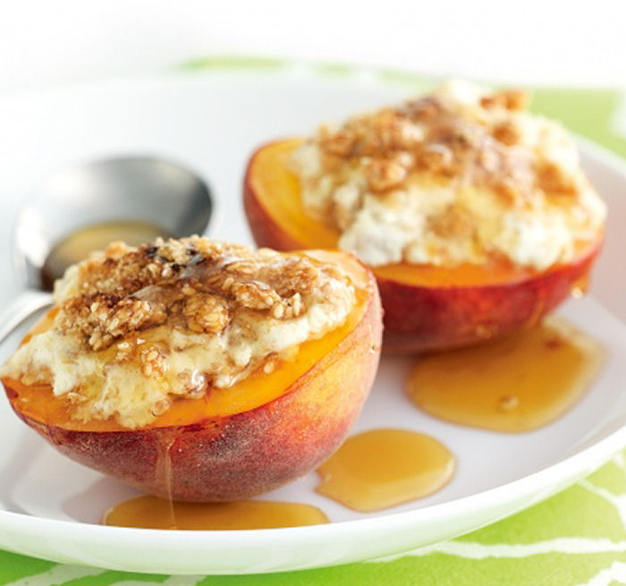 Baked Peaches with Ricotta - Healthy Snack Recipes