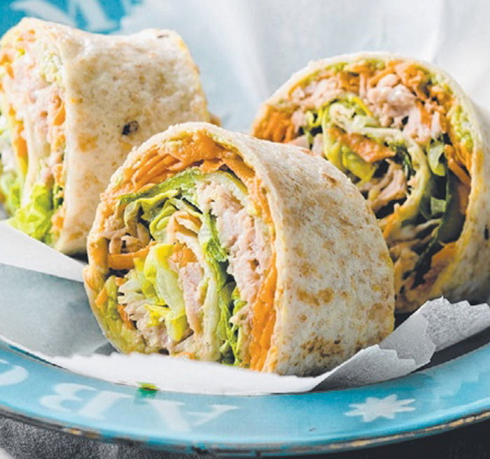 Tuna salad rolls healthy snack recipes lunch box ideas for How to make homemade healthy snacks
