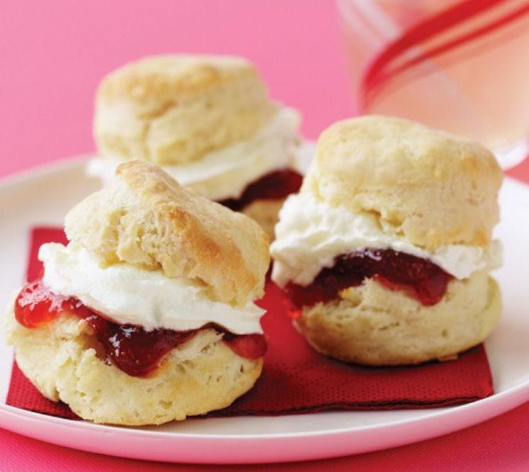 Creamy Lemonade Scones Balls with Jam - Healthy Sweet Snacks