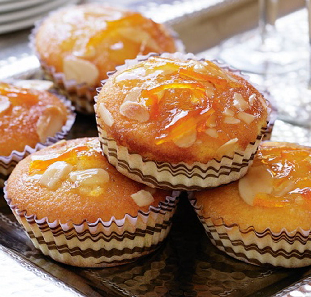 Glazed Orange and Almond Cakes - Healthy Sweet Snacks