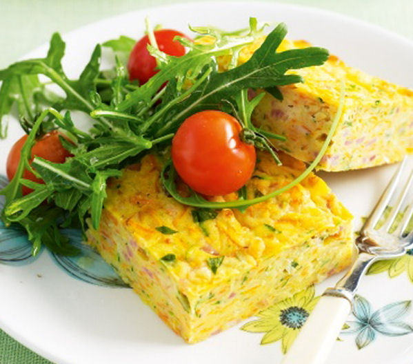 Healthy Carrot and Zucchini Slice - Healthy Snack Recipes