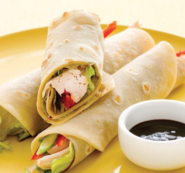 Healthy Peking Chicken Pancakes - Healthy Snack Recipes