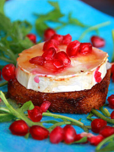 Baked Goat Cheese with Honey - Easy Snacks