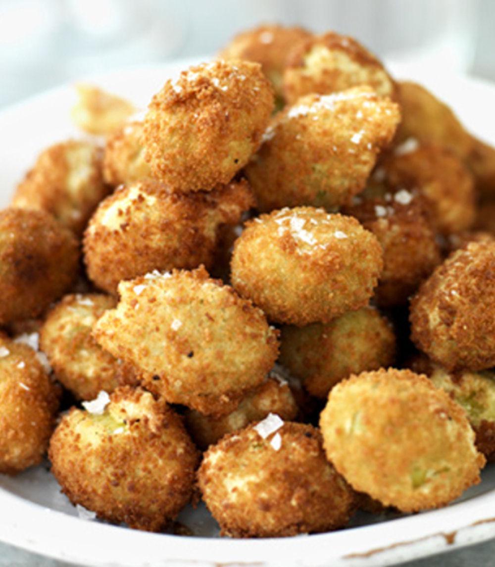 Crispy Stuffed Olive Snacks - Easy Snacks