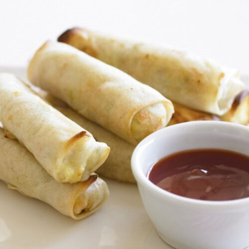 Chicken and vegetable spring rolls - Easy Appetizers