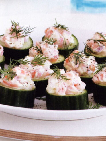 Cucumber and Salmon Snacks - Easy Appetizers