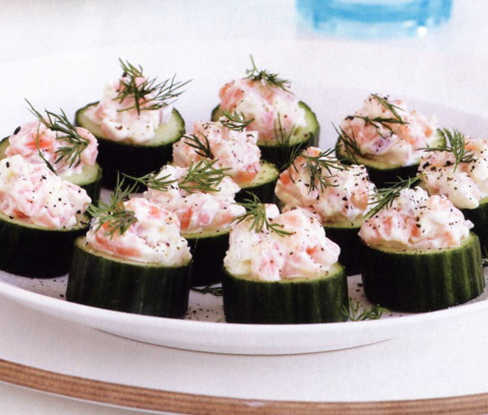 Cucumber and Salmon Snacks