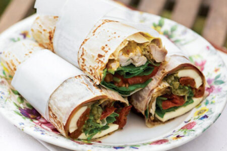 Italian Antipasto Wrap - Healthy Breakfast Ideas