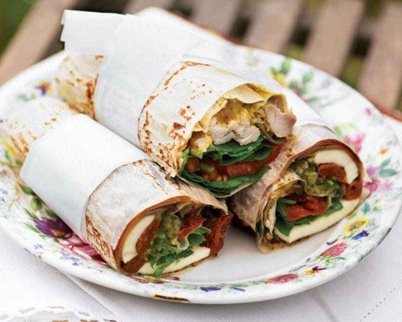 Italian Antipasto Wrap - Healthy Breakfast Ideas