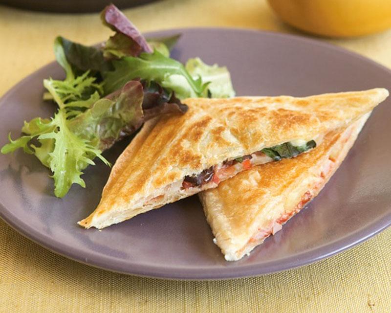 Pizza Pie in Sandwich Maker - Healthy Breakfast Ideas