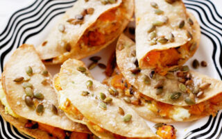 Pumpkin and Goat Cheese Quesadillas - Easy Appetizers