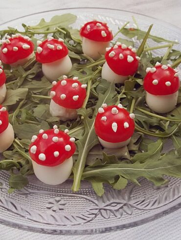 Fun tomato and egg mushrooms for kids