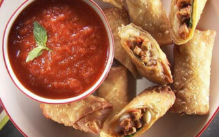 Meatball Sub Egg Roll Snacks