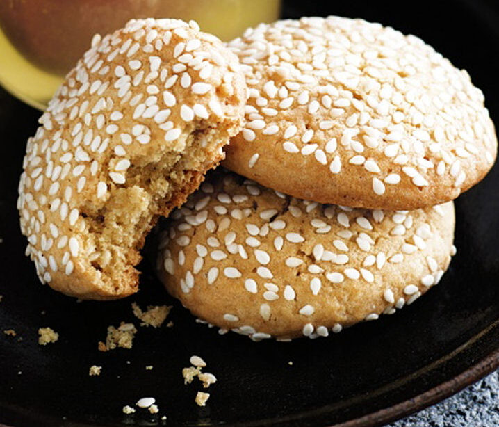 Ginger and Sesame Biscuits - Healthy Sweet Snacks
