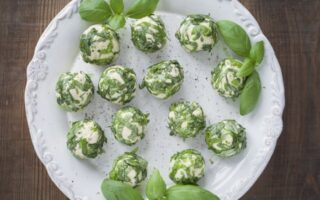 Basil Goat Cheese Balls - Healthy Appetizers