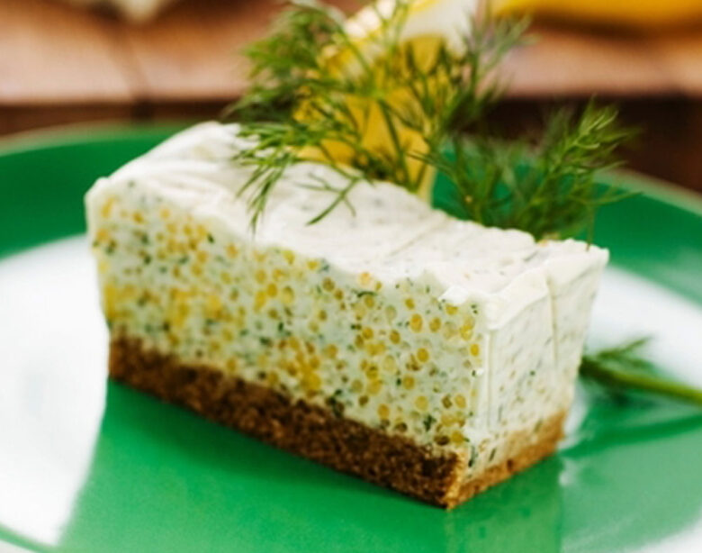 Caviar Cheesecake - Healthy Appetizers