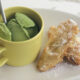 Banana Fritters with Green Tea Ice Cream