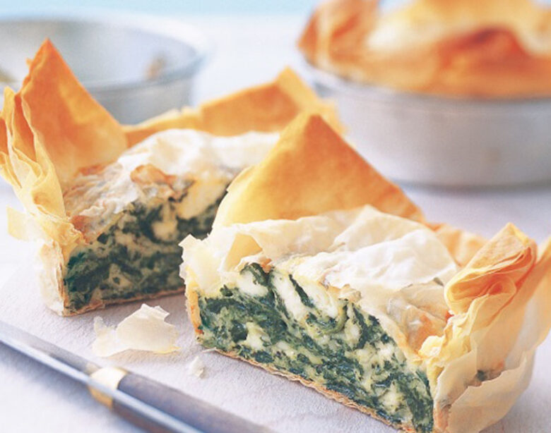 Cheese and Spinach Pie - Healthy Snack Recipes