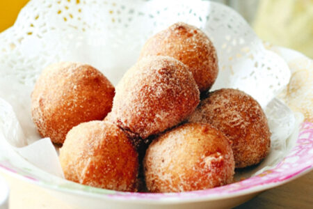 Cinnamon Doughnut Drippers - Healthy Sweet Snacks