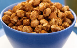 Crunchy Baked Chickpeas - Healthy Snack Recipes