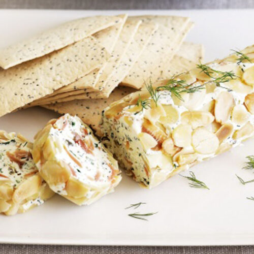 Smoked Salmon and Cheese Log - Easy Appetizers