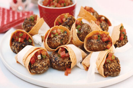 Beef Patties in Tortilla Pockets - Easy Snacks and Appetizers